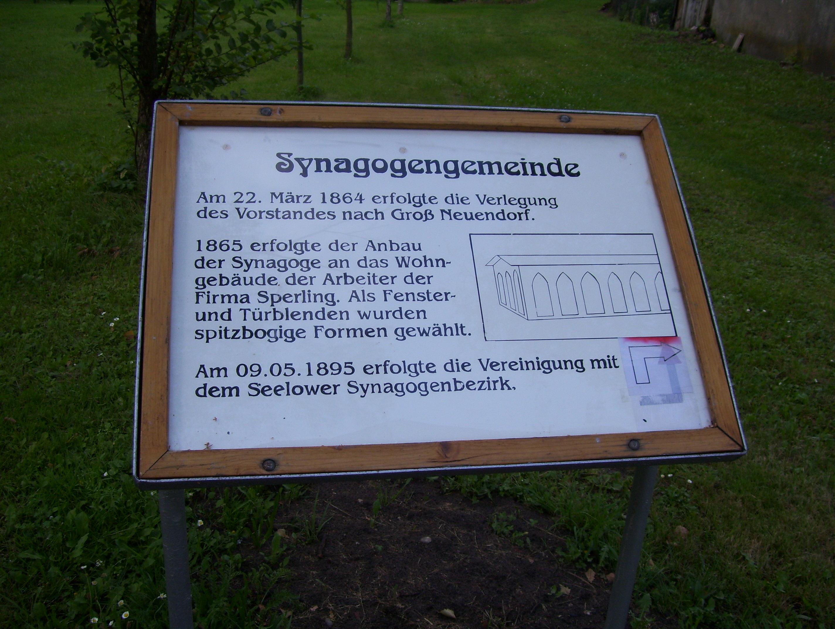 Infotafel jüdischer Friedhof
