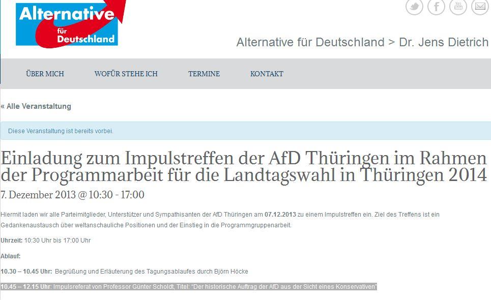 Scholdt als Referent bei der AfD-Thüringen