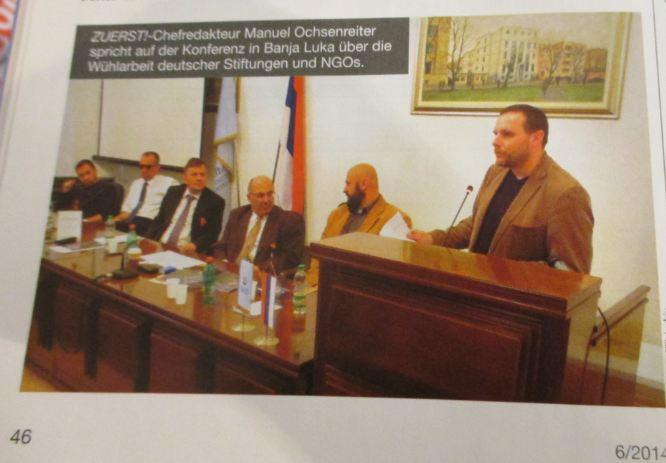 Ochsenreiter auf Symposium in Banja Luka