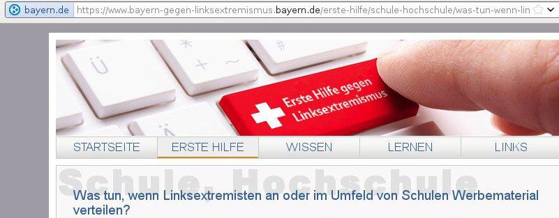 Bayern gegen Linksextremismus
