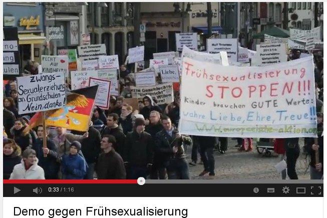 Europäische Aktion auf christlich-homophober Demo in Köln