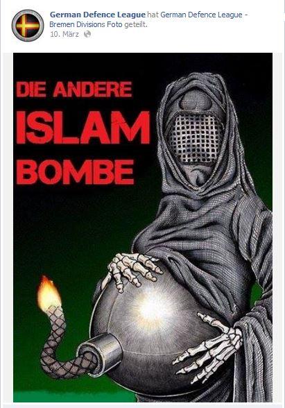 antimuslimische Karikatur bei der GDL Bremen