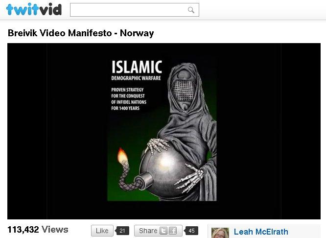 antimuslimische Karikatur bei Breivik