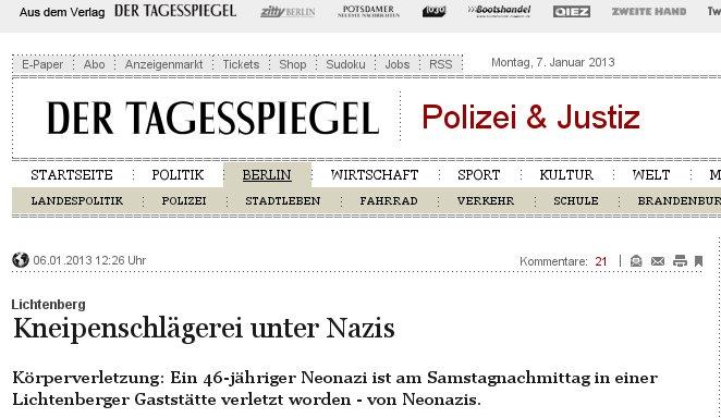 Nazis Selbstprügel