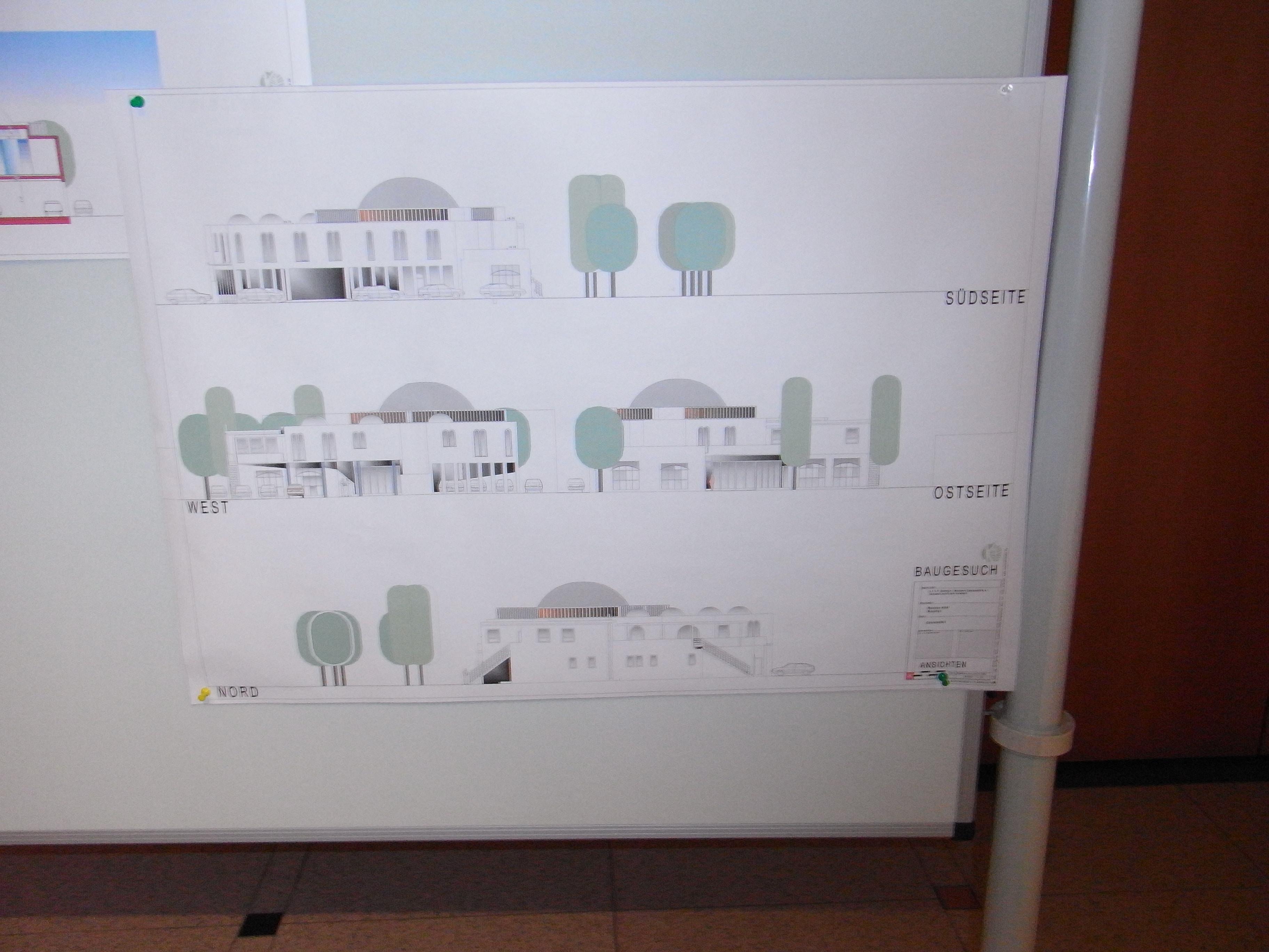Moschee-Bauplan