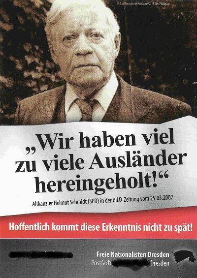 Schmidt auf Nazi-Sticker